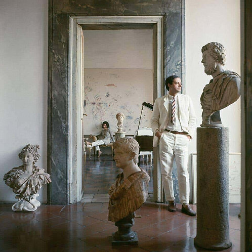 Cy Twombly in Rome 1966 - Untitled #9, (Large Canvas)