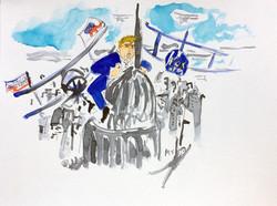 Donald Trump takes on Washington