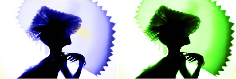 Back Lighting, Blue Green Diptych