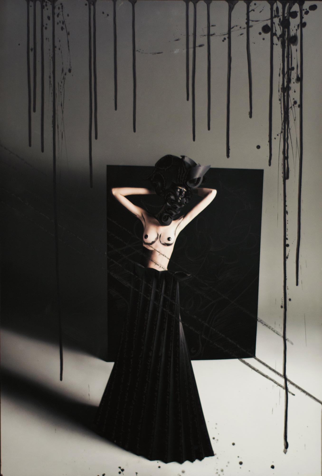 Teresa with Black Origami Skirt, 2010