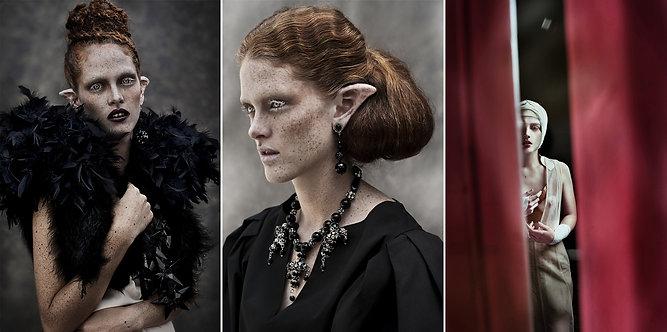 Lady of Naggaroth #1, #2 and Infrahumana, Triptych