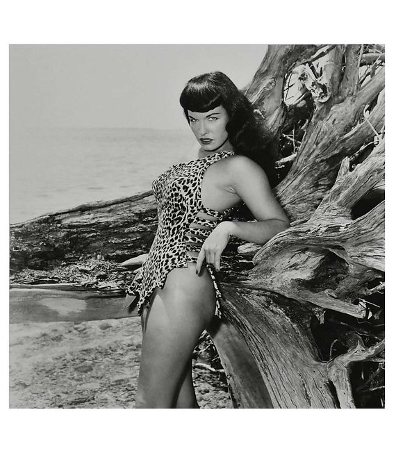 Bettie Page with Driftwood, Key Biscayne, FL, 2012