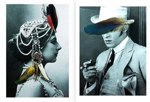Diptych: Mata Hari and Rudolph Valentino, 2018