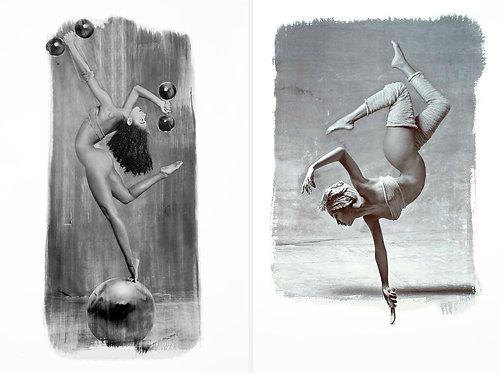 Les Acrobates II, and III, Set 1995