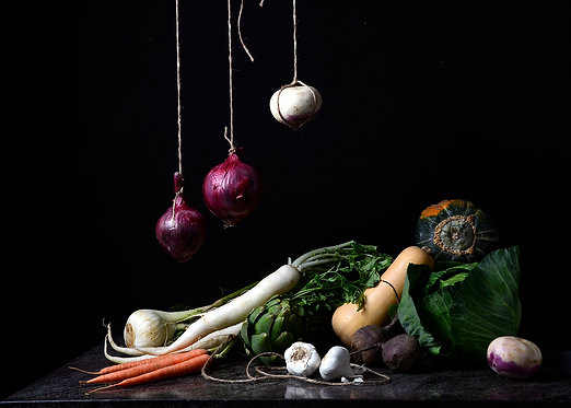 Bodegón de verduras I, 2015