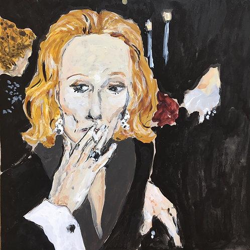 Nan Kempner smoking, 2020