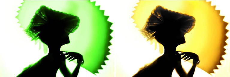 Back Lighting, Green Yellow, Diptych