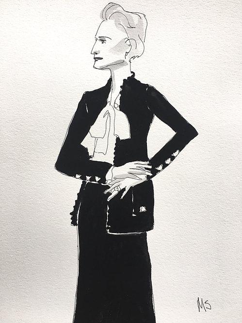 Nan Kempner in Black
