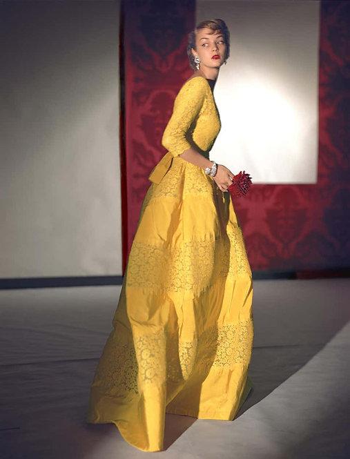 Fashion in Colour -Dress by Henri Bendel, Jewelry by Harry Winston, 1948