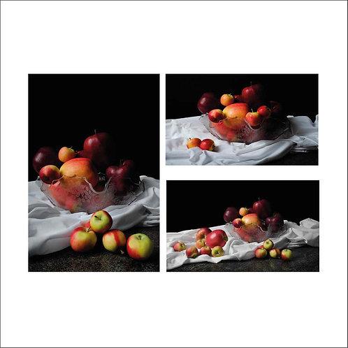 Apples I, II & III. Triptych. 2015