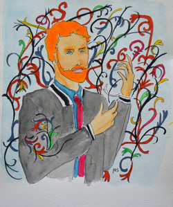 Prince Harry as a Kehinde Wiley pai