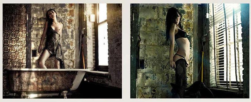 Shanghai #5 and #1_Diptych_Medium Size Nude Portrait Color Photograph_2012_David Jay