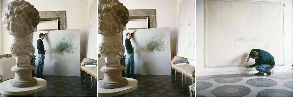 Cy Twombly in Rome 1966 - Untitled #30, Untitled #24, and Untitled #15, Triptyc