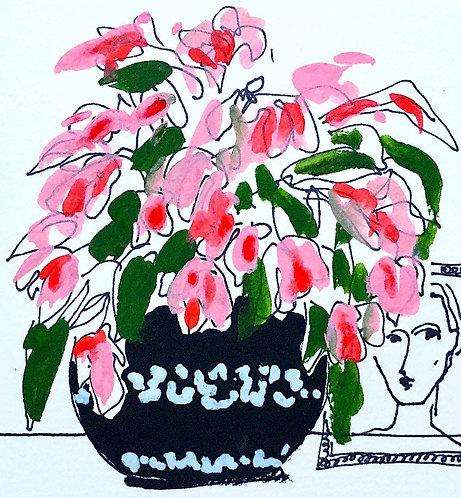 Flower vase pink, 2021