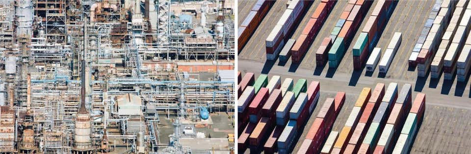 Refinery, and Containers, Aerial Photograph Set, 2015