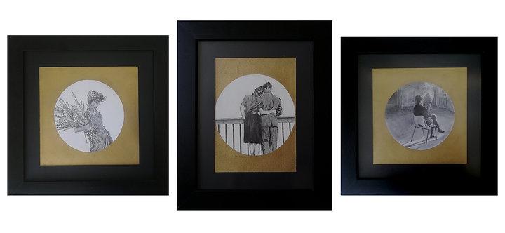 Triptych Brisa, Cercanía and interior, 2019