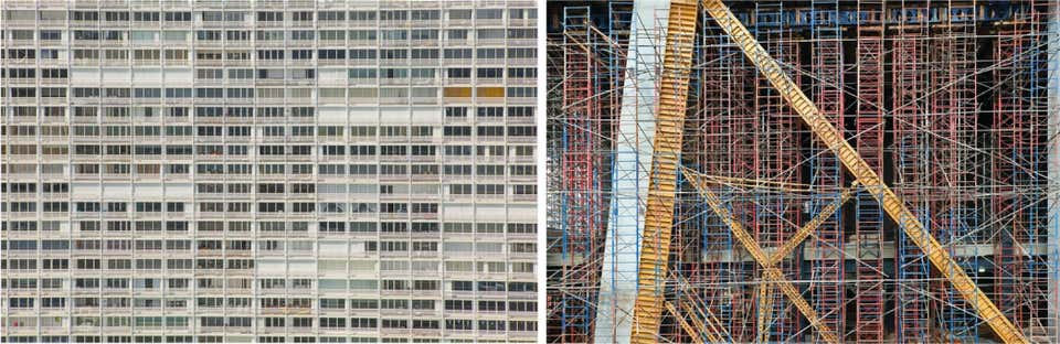 Balconies, and Scaffolding, Aerial Photograph Set. 2015