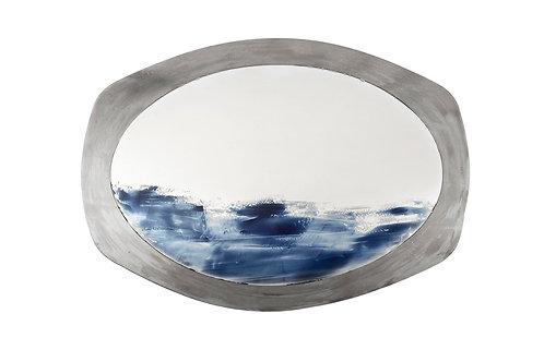 Onda, Oval Custom Handmade Color Mirror, 2019