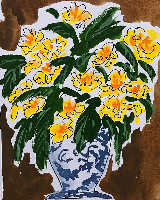 Flower vase yellow, 2021