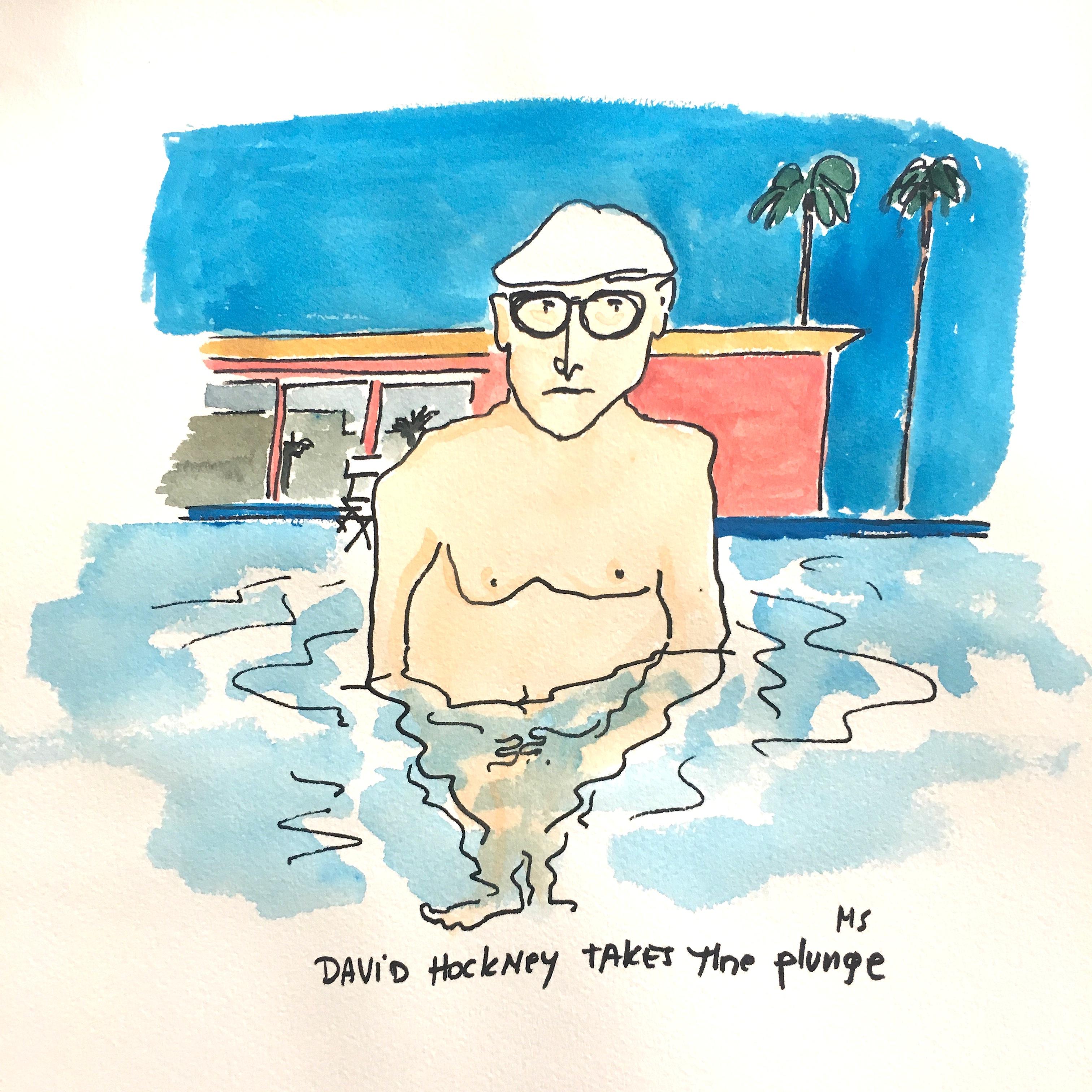 David Hockney Takes the Plunge