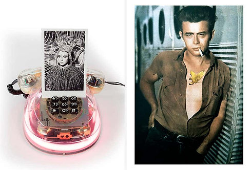 Diptych: Neon Diva and James Dean, 2018