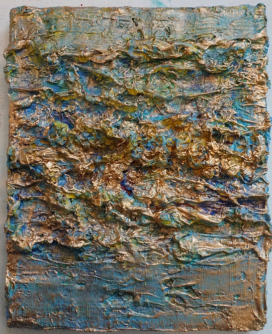 Tactile memory #85 One of a kind, Mixed media on canvas. 2021_Natasha Zupan