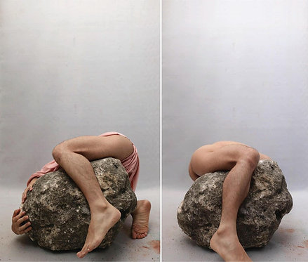 """4"" and ""3"", Diptych from the series La Piedra Sustituta, 2020"