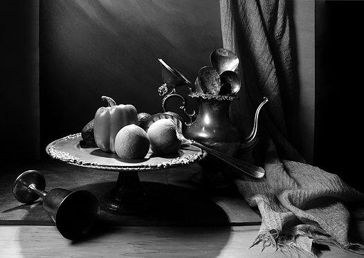 Bodegón con Pimentón. Black & White. From the bodegon series, 2015