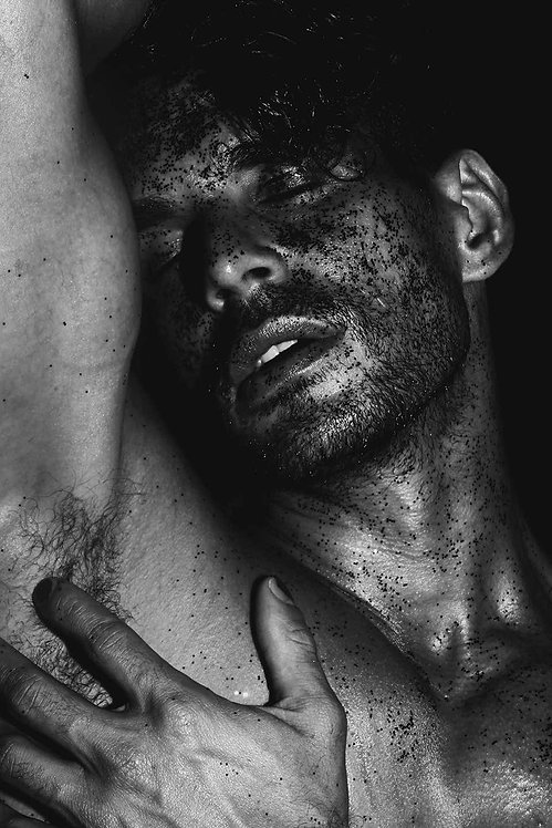 Man with Black Sand, 2017 - 2018 (B&W)