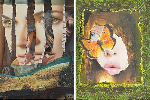 Eternal Recurrence #9, and #5, Photo Collage Set, 2015