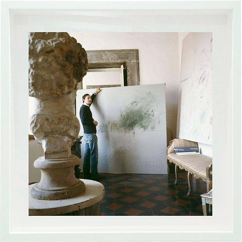 Cy Twombly in Rome 1966 - Untitled #24, 1966 (Small size: Framed)