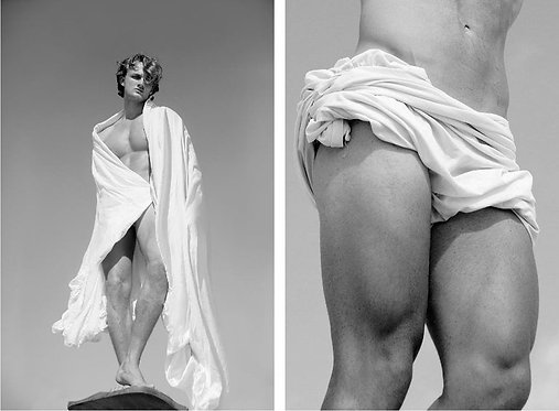 Man risen and Bodice of a Man, 2017 - 2018 (B&W)