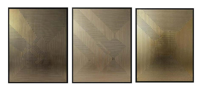 Untitled 5, Untitled 3 & Untitled 1 Triptych, 2019