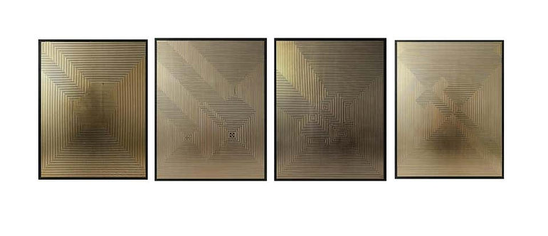 Untitled 1, Untitled 3, Untitled 5 & Untitled 6 Quadriptych, 2019