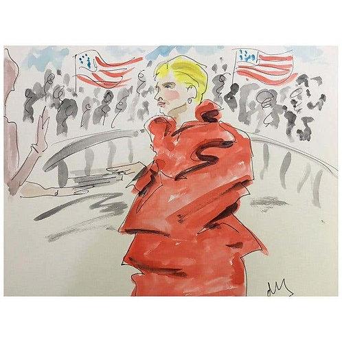 Hillary in Maison Margiela, 2017