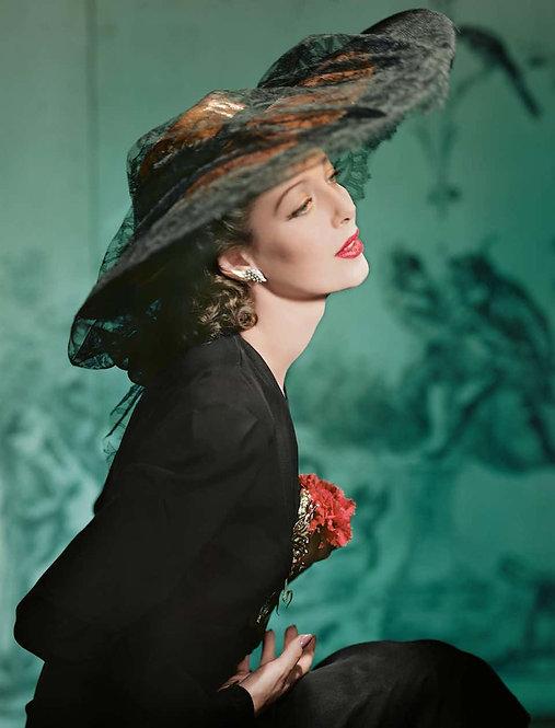 Fashion in Colour - Loretta Young, New York, 1941 (Medium size)