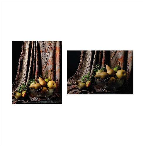 Peras con cortina marroquí II & I. Diptych. 2015