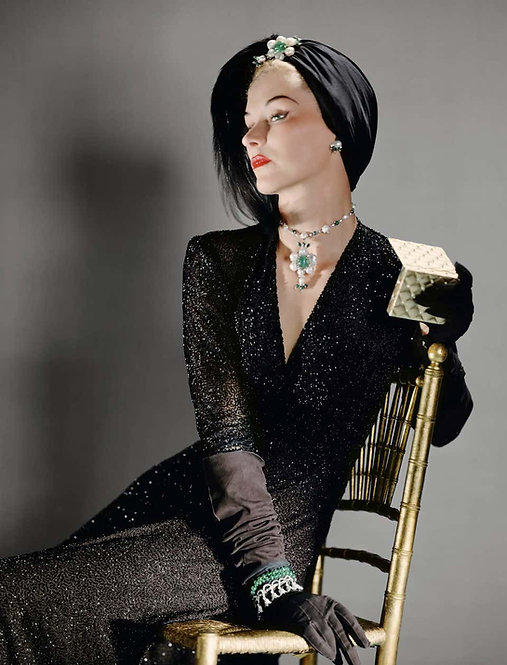Fashion in Colour - Lisa Fonssagrives (Framed), 1940