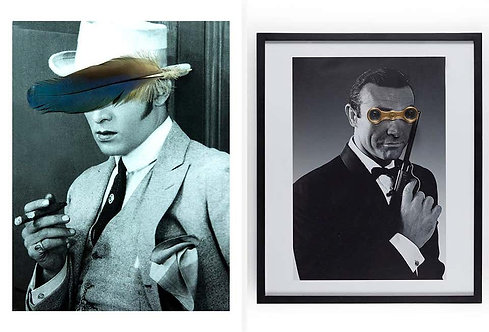 Diptych: Diptych: James Bond and Rudolph Valentino, 2018