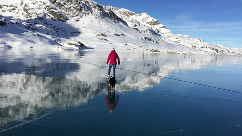 Not every year we can go for iceskating there! Lago Bianco, 2234m