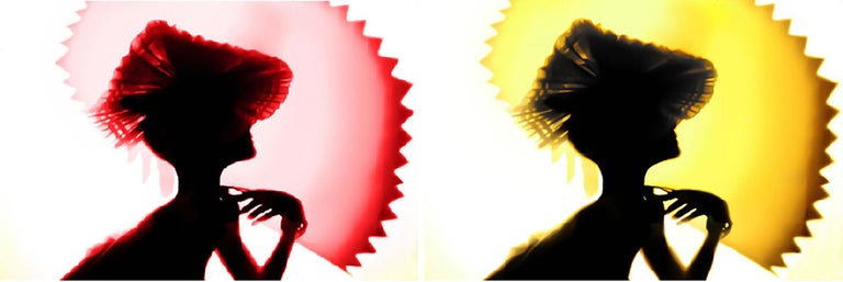 Back Lighting, Yellow Red, Diptych