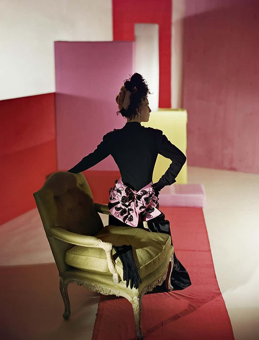 Fashion in Colour - Suit and Headdress by Schiaparelli, 1947 (Small size)