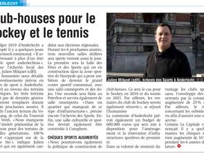 """La Capitale """"Club-houses pour le hockey et tennis"""""""