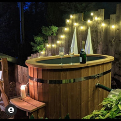 Glamping LuvTub and robes