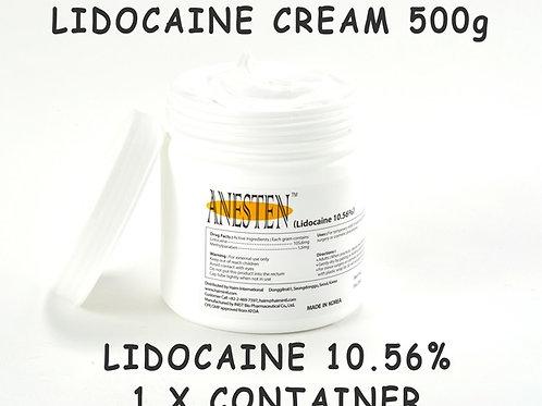 ANESTEN-1 Container(500g) 10.56% Lidocaine Cream