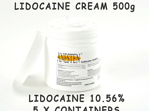 ANESTEN-5 Containers(2,500g)10.56% Numbing Cream