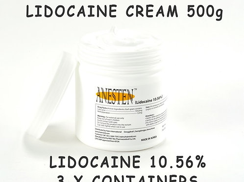 ANESTEN-3 Container(1,500g) 10.56% Lidocaine Cream
