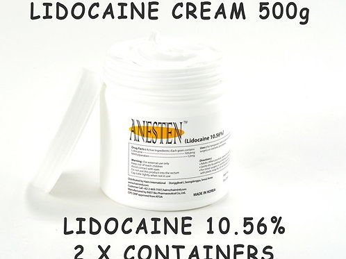 ANESTEN-2 Containers(1,000g)10.56% Numbing Cream