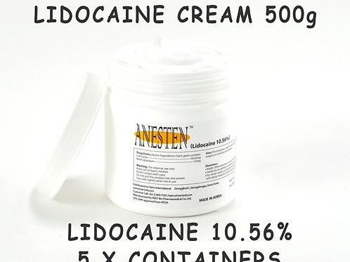 ANESTEN-5 Containers(2,500g)10.56% Lidocaine Cream