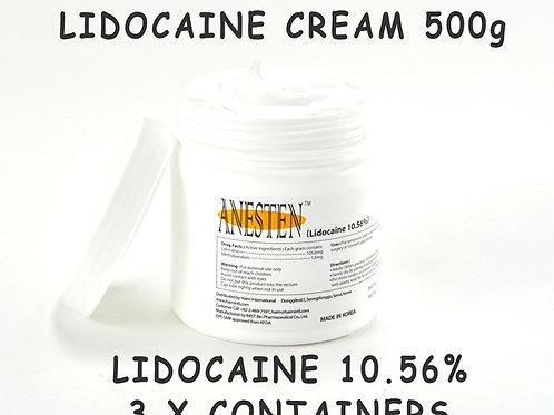 Anesten-3 Containers(1,500g)10.56% Lidocaine Cream